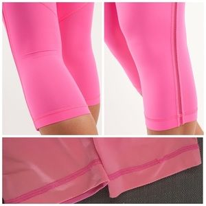 lululemon athletica Pants - LULULEMON PINKELICIOUS BEACH RUNNER CROPS SZ 4